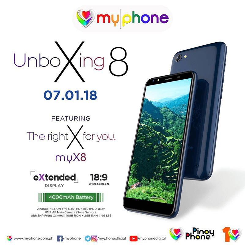 MyPhone myX8 will come with MT6739 and 4,000mAh battery!