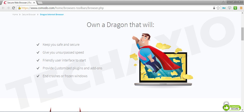 Comodo Dragon screenshot