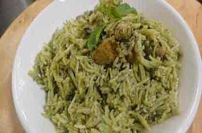 Chicken Pulao In Hara Masala (Non-Veg) From Imperial Inn
