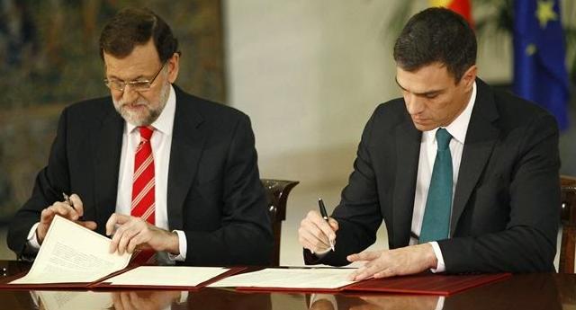 """PP y PSOE pactan mantener una posición conjunta ante el """"desafío soberanista catalán"""""""