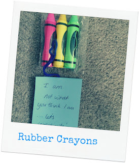 rubber crayons