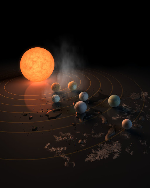 Astronomers explain the formation of seven exoplanets around Trappist-1