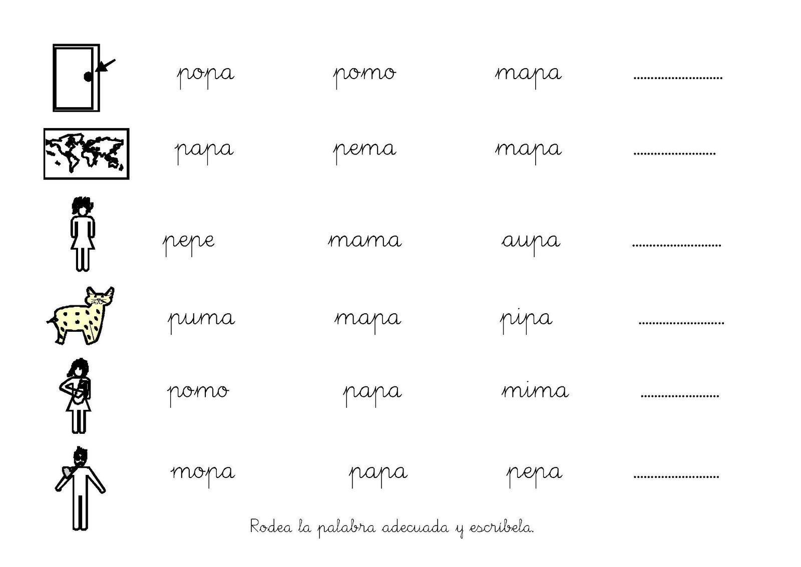 Fichas Infantiles Fichas Letra A