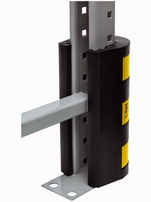 Protect pallet rack upright frames