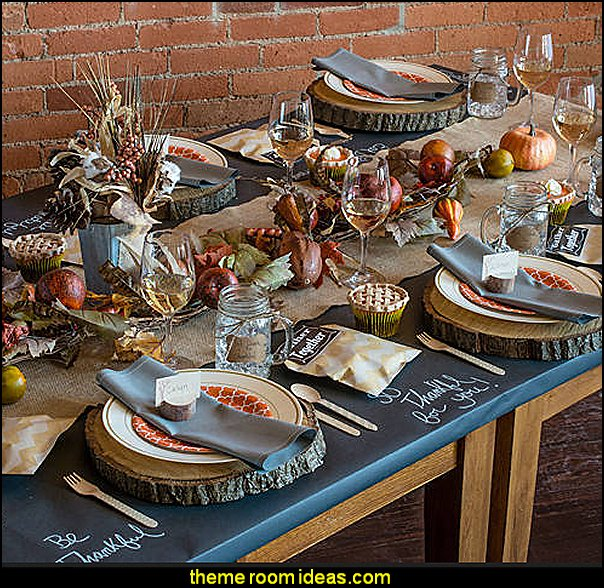 Thanksgiving table decorations  autumn fall themed bedroom decorating seasonal decor -  Autumn Fall Thanksgiving Harvest Decor  - fall themed bedding - fall bedroom decor - rustic decorating for thanksgiving  - Autumn colors decorate for fall  -