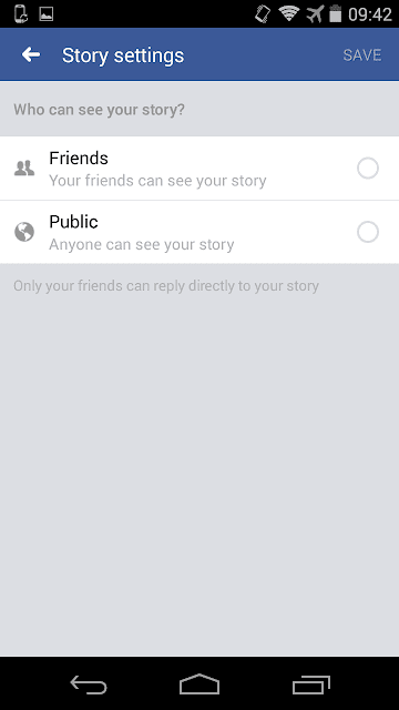 Set Privacy for Facebook Stories