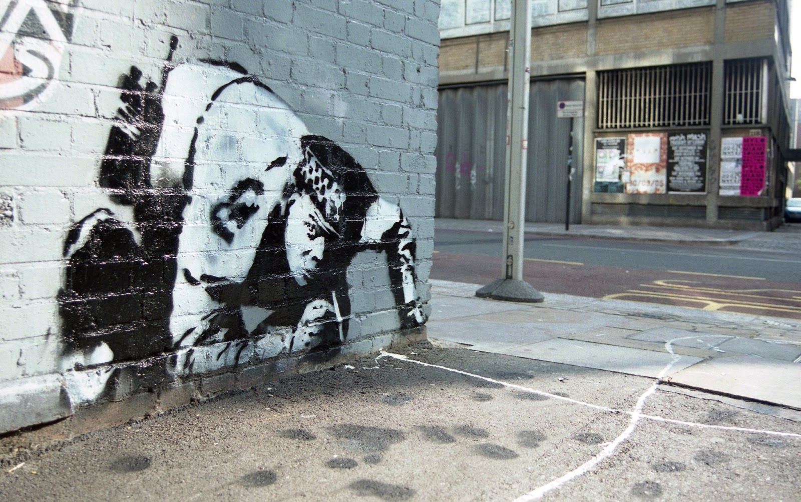 """Snorting Copper"" by Banksy, 2005. Photo by Steve Cotton, Artofthestate.co.uk"