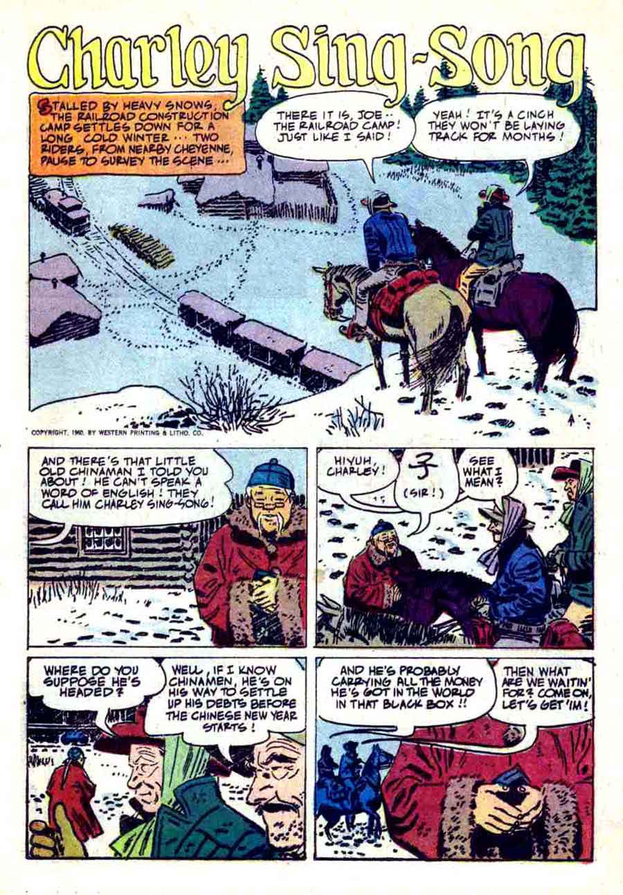 Rin Tin Tin v1 #36 dell tv western comic book page art by Alex Toth