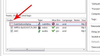 Kedua setelah video terinsert kalian cari file bertipe subtitle lalu kalian hilangkan tanda centangnya.