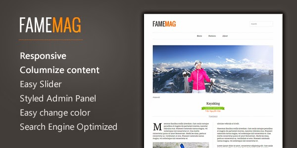Banner FameMag – Free Minimalist Blogger Template for News & Magazine