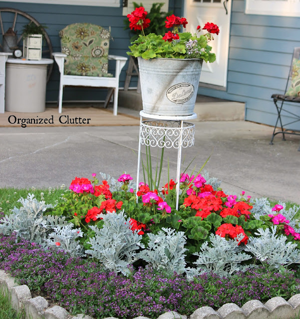 Adding Vertical Interest to a Small Garden www.organizedclutter.net
