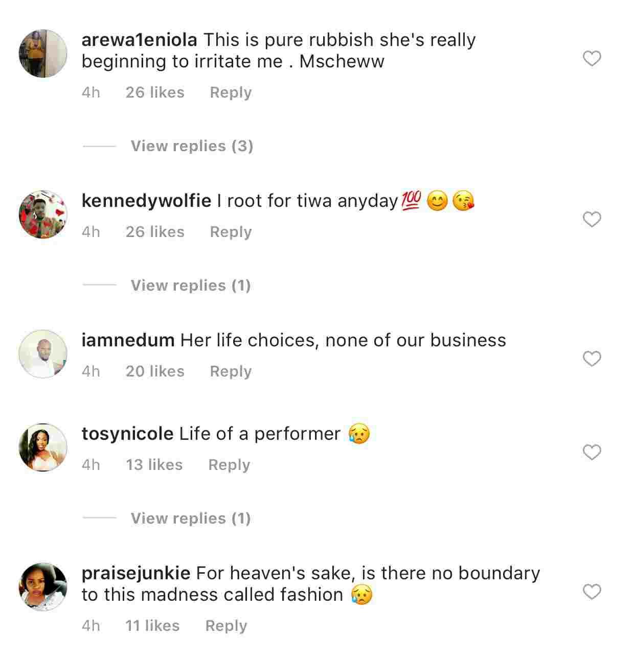 Fans React To Tiwa Savage's Ripped Bum Shorts At Afrorepublik [Photo]