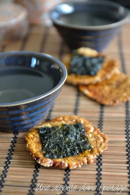 Senbei, des crackers japonais au riz (sans gluten)