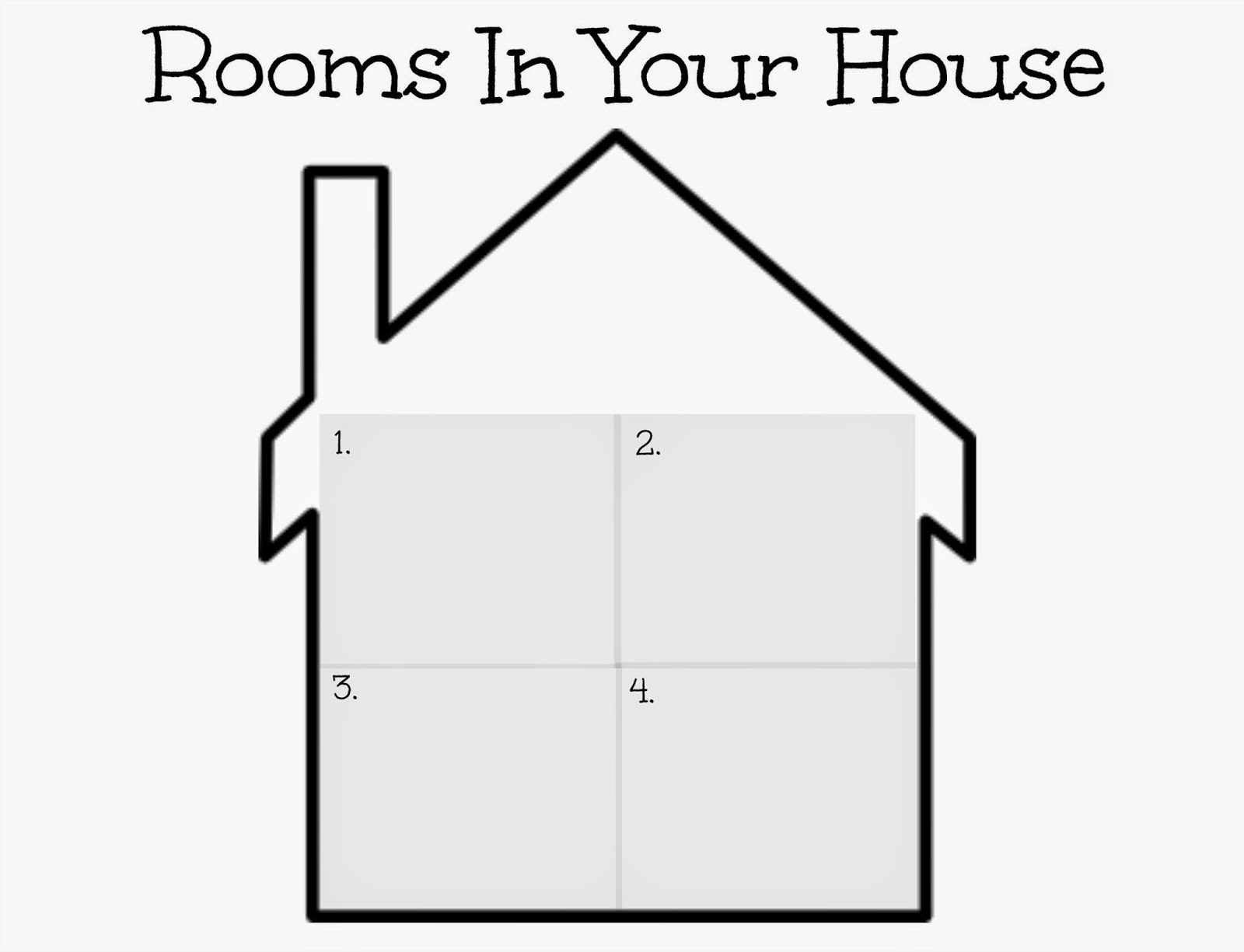 Kindergarten Worksheet Rooms Of The House