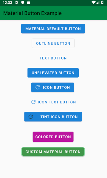 android - Material components button example