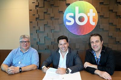 Leon Abravanel, Marcos Paulo e Fernando Pelegio (Crédito: Lourival Ribeiro/SBT)