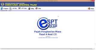 Download skema impor e-SPT Masa PPh Pasal 4 ayat (2) terbaru