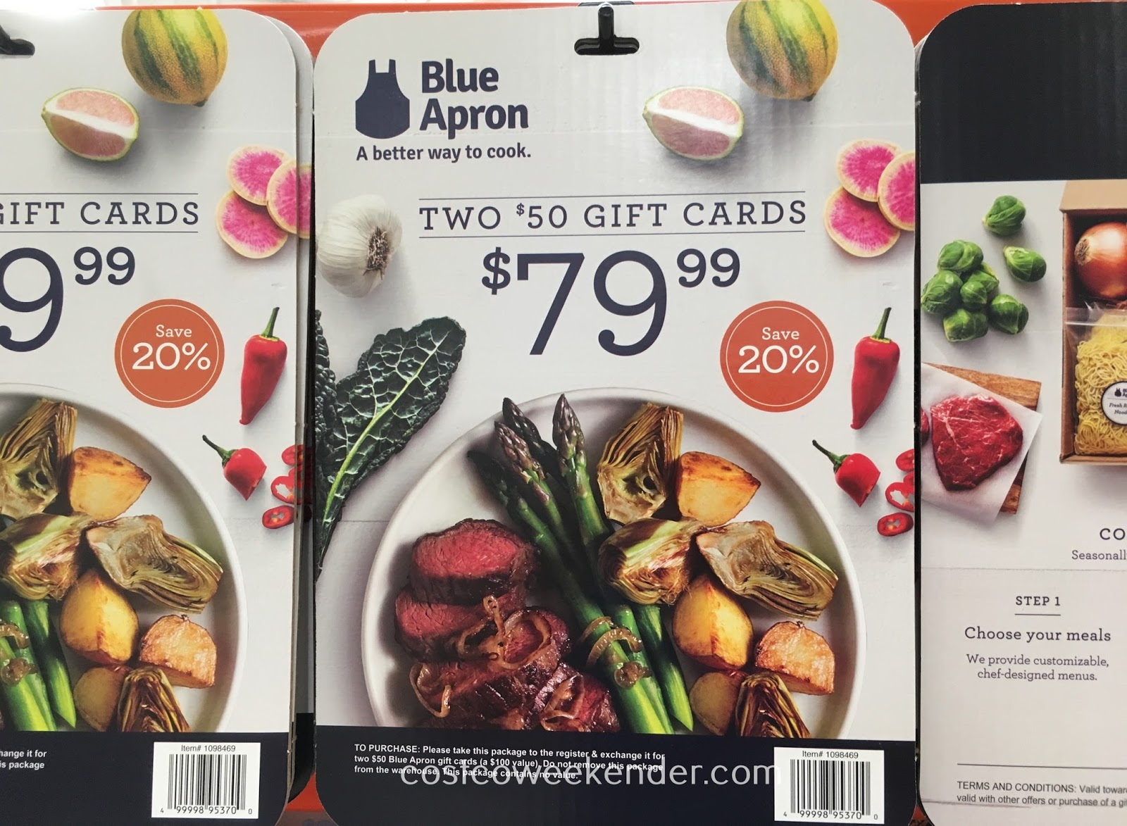 Blue apron as a gift