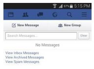 how to check other messages on facebook android