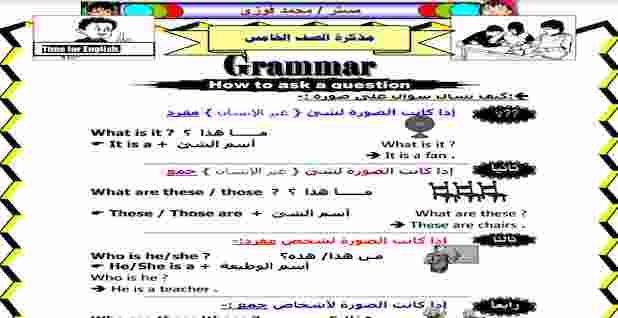 منهج اللغة الانجليزية للصف الخامس الابتدائي الترم الاول 2020