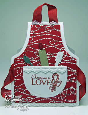Stamps - Our Daily Bread Designs Stitch Background, Jesus is the Reason, ODBD Custom Apron and Tools Dies