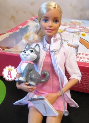 Барби ветеринар с собакой