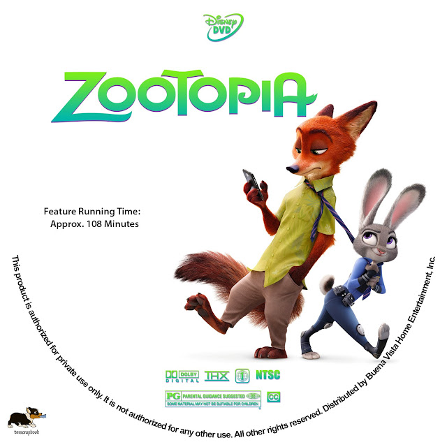 Label DVD Zootopia