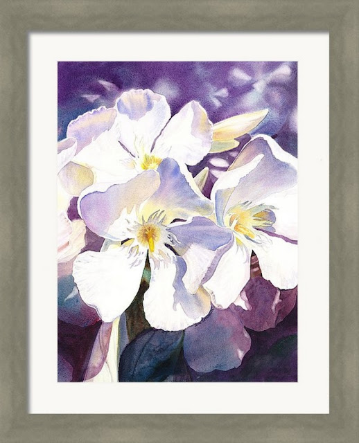 framed art watercolor flowers realism category