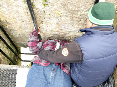 z. kissing the stone, Blarney Castle - Ireland