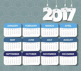 2017カレンダー無料テンプレート129