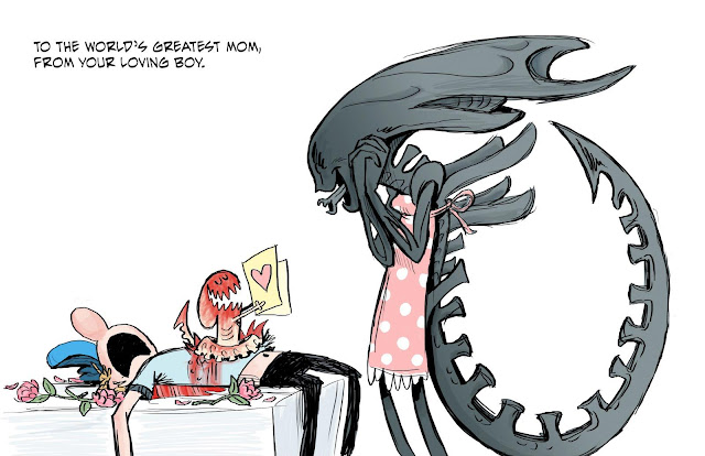 Funny Alien Mother's Day cart cartoon picture