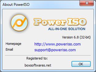 PowerISO 6.8 Full Key โปรแกรมจำลองไดร์ฟสำหรับ Gammer