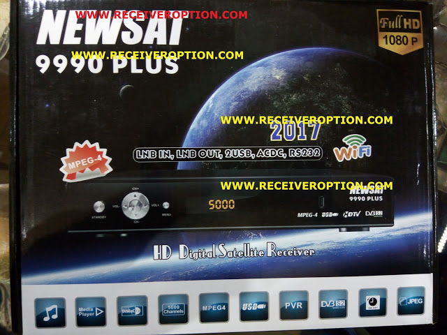 NEWSAT 9990 PLUS HD RECEIVER POWERVU KEY NEW SOFTWARE BY SUNPLUS LOADER