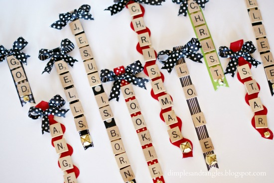 scrabble tile ornaments dimples and