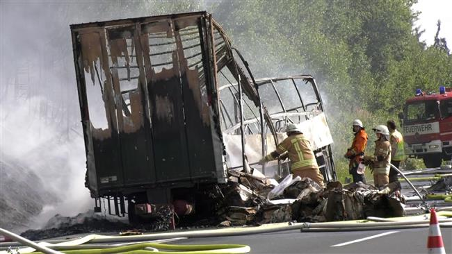 Road accident injures 31 in Germany, 17 missing