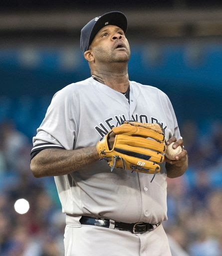 Sabathia get roughed up early, Yankees fall to Blue Jays 4-2
