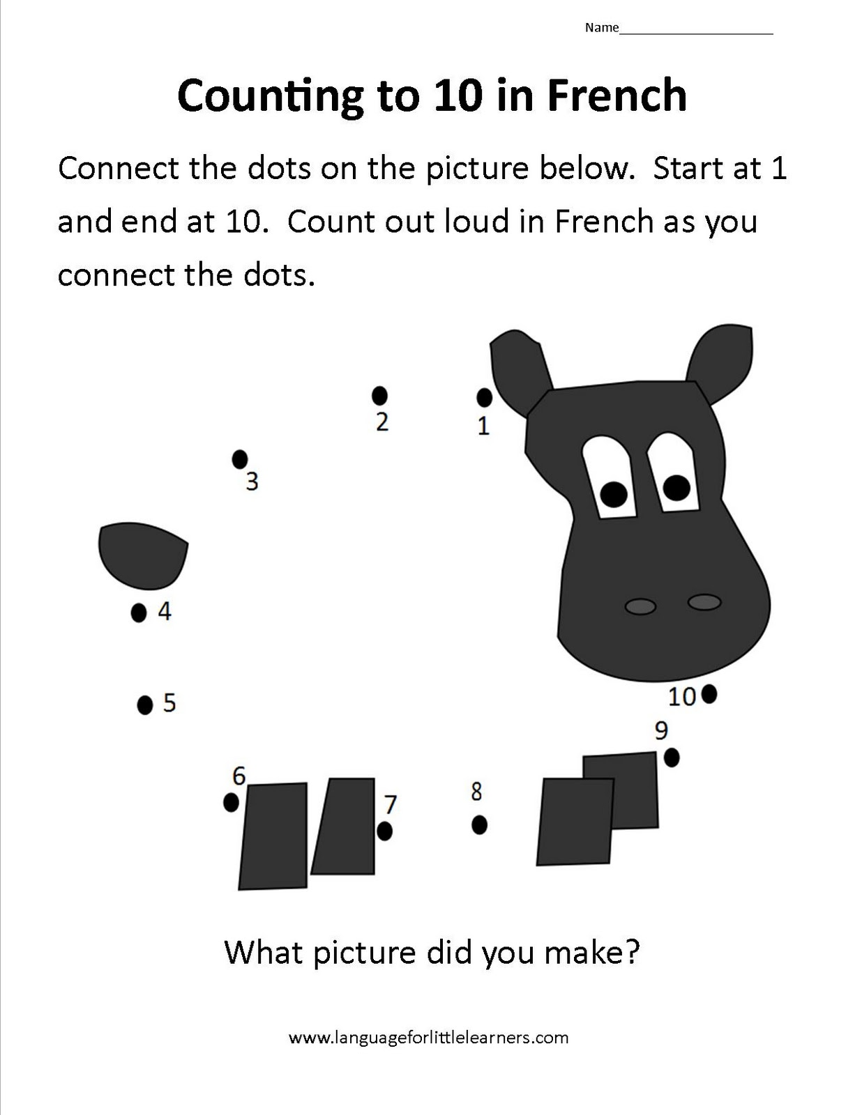 Language for Little Learners: Using Dot-to-Dots to teach