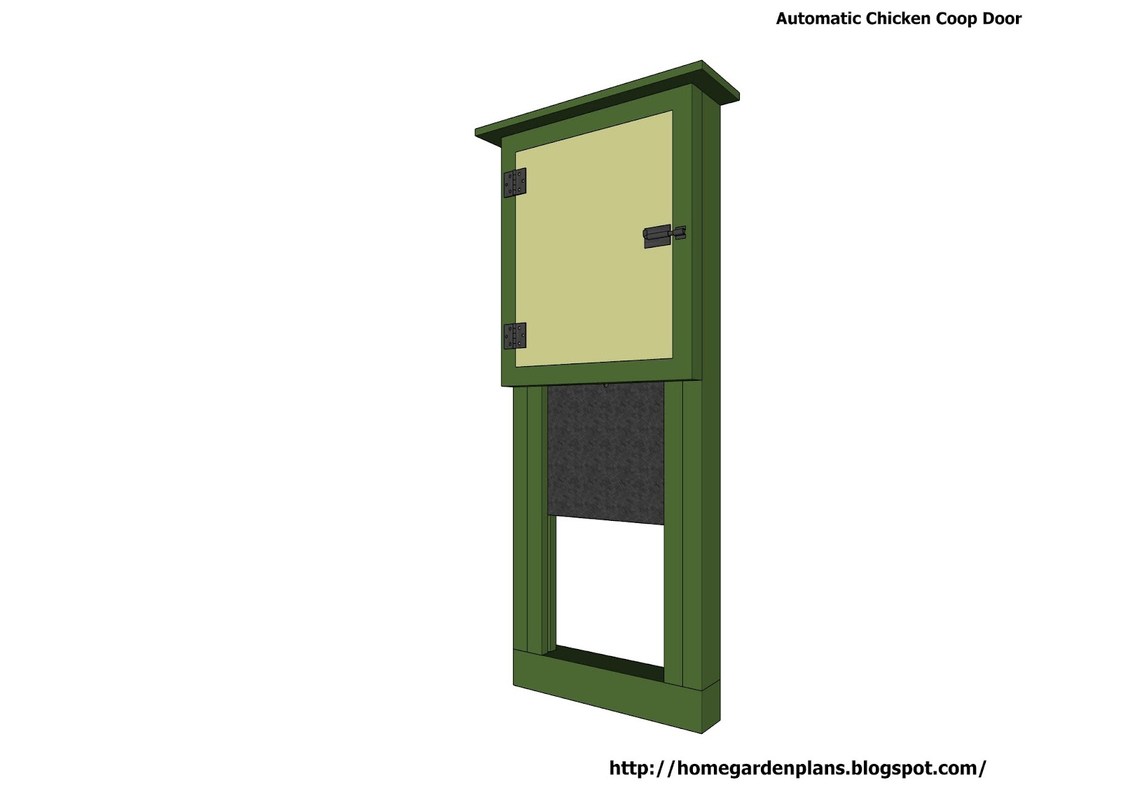home garden plans: Automatic Chicken Coop Door
