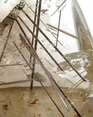 quartzo rutilado encontrado em Minas Gerais