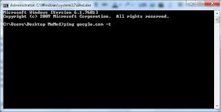 Cek Ping Untuk Tes Koneksi Internet Via CMD Windows