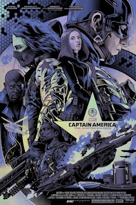Captain America: The Winter Soldier Foil Variant Screen Print by Alexander Iaccarino & Grey Matter Art