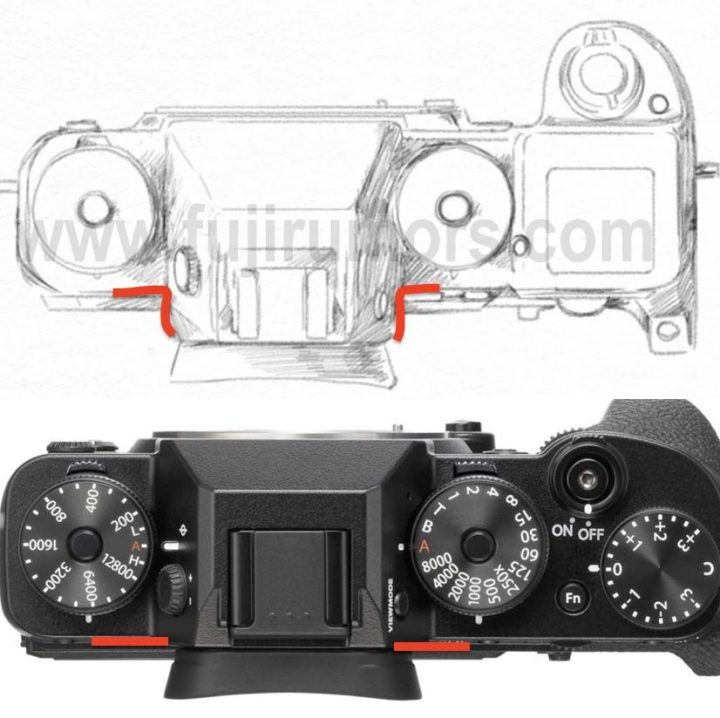 Сравнение видоискателя Fujifilm X-H1 и X-T2