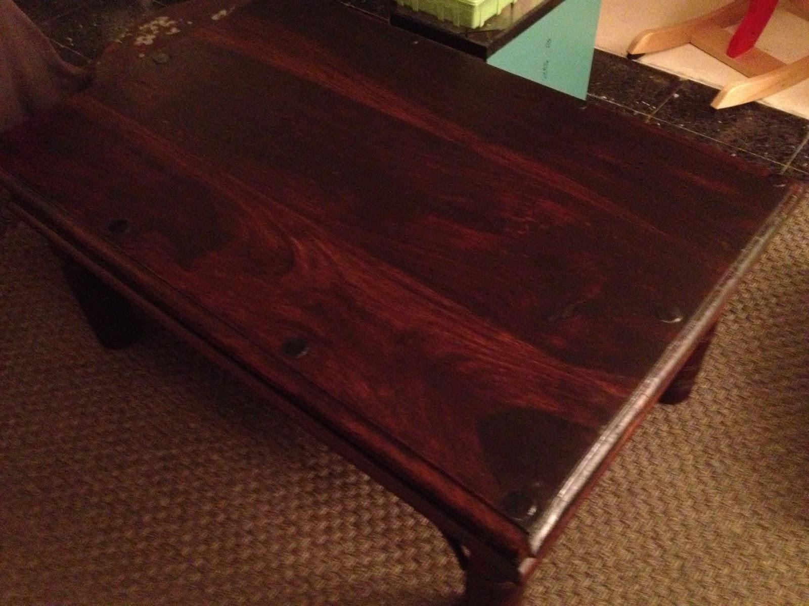 r novation d 39 une table basse en bois exotique mes r novations de meubles en bois. Black Bedroom Furniture Sets. Home Design Ideas