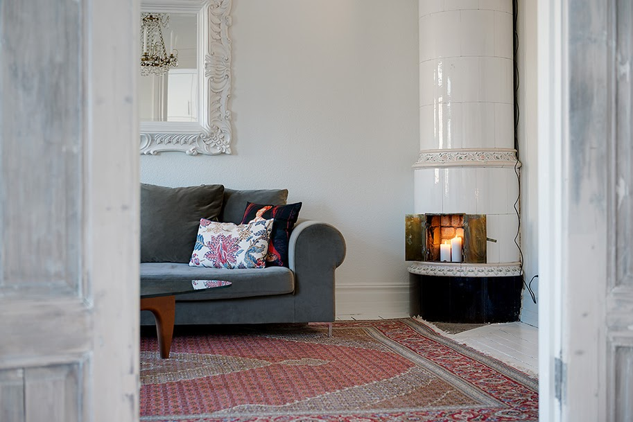 my scandinavian home: Swedish fireplace inspiration