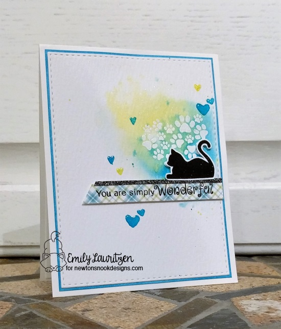 Simply Wonderful Kitty  Card by Emily Lauritzen | Furr-ever Freinds stamp set by Newton's Nook Designs #newtonsnook #handmade