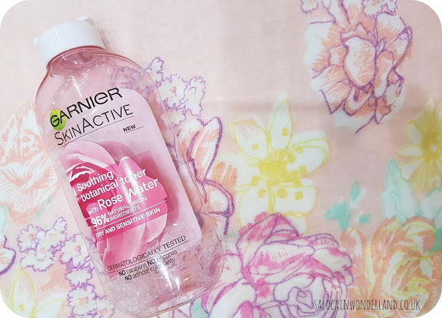 garnier rose water toner review