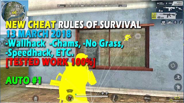 Cheat Rules of Survival Leusin 8.0 Update 13 maret 2018 !