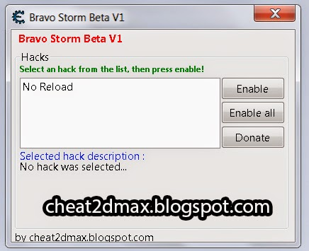 Bravo Storm (beta) Cheat No Reload Hack