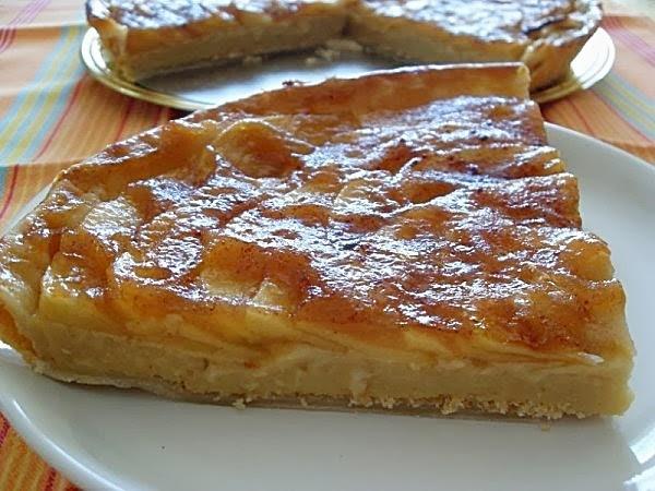 tarte aux pommes nature