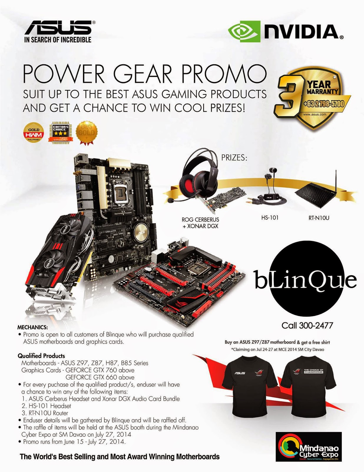Buy ASUS motherboards and graphics card and win prizes - The